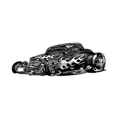 classic retro hot-rod cars isolated vector image