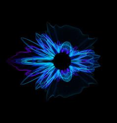 colorful noisy circular vibration abstract vector image
