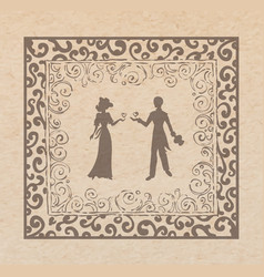 Couple in louve vector