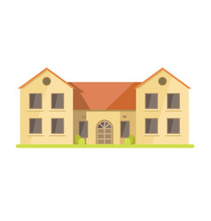 cute cottage brick house vector image