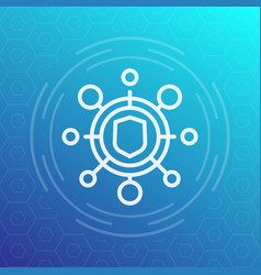 Cyber attack icon pictograph vector