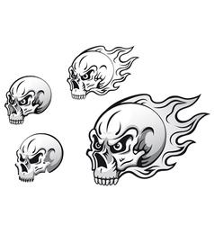 Danger evil skulls vector