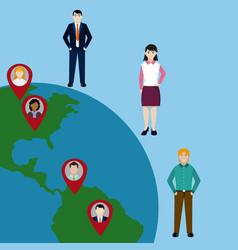 Diversity around world vector