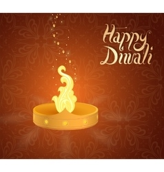 Diwali indian festival greeting card vector