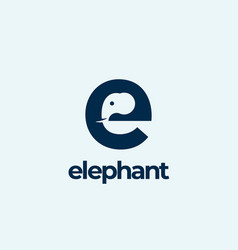 elephant abstract logo template sign vector image