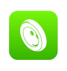 fashion clothes button icon green vector image