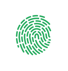 finger print color icon line id aproove sy vector image