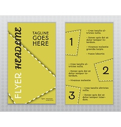 Flyer and Brochure Template vector
