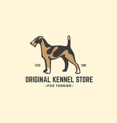 Fox terrier logo vector