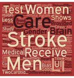 Gender bias in stroke care text background vector
