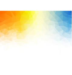 geometric orange blue texture background vector image