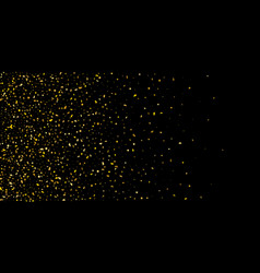 Glitter of golden particles of confetti on a black vector