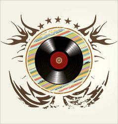 grunge vinyl banner vector image