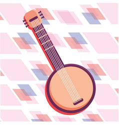 guitar isolated icon vector image