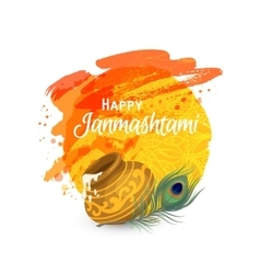 Happy Janmashtam card vector