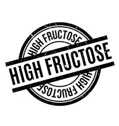 High fructose rubber stamp vector