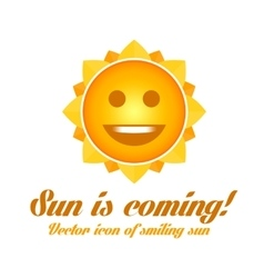 Icon of smiling sun vector