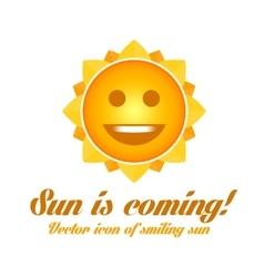 Icon smiling sun vector