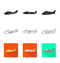 Isolated object travel and airways sign vector