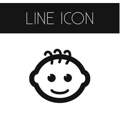 Isolated smiling infant outline child vector