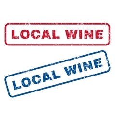 Local Wine Rubber Stamps vector