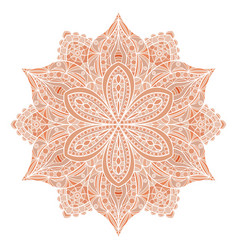 mandala red indian floral ornament vector image