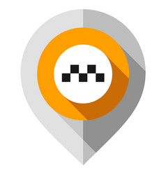 map pin symbol taxi gps pointer folded from vector image