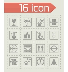 Marking of cargo icon set vector