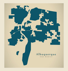 Modern city map - albuquerque new mexico city of vector