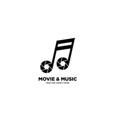 Movie music logo template icon element vector