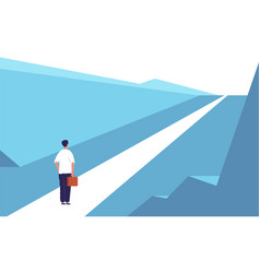 New journey concept highway road abstract person vector