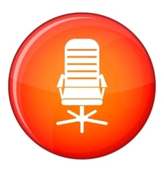 Office chair icon flat style vector
