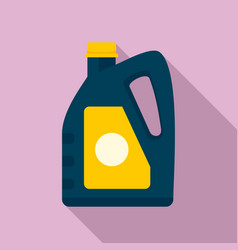 Oil plastic canister icon flat style vector