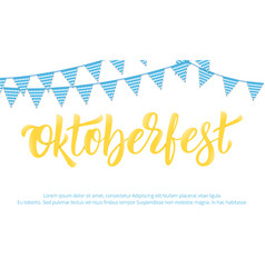 oktoberfest banner design for german beer vector image