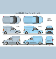 Opel combo cargo van l1h2 and l2h2 2016-present vector