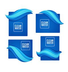paper cut spring aqua flow design template for vector image
