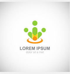 people teamwork logo vector image