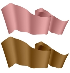 Pink and Brown Ribbons vector image