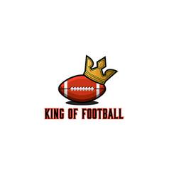 rugor american football ball logo sports vector image