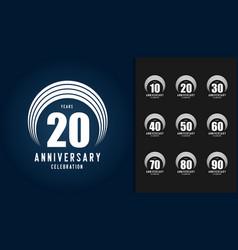 set anniversary logotype vector image