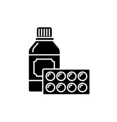 sport supplements black icon sign on vector image