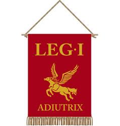 standard of legio i adiutrix vector image