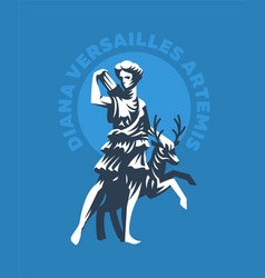 Statue of diana of versailles or artemis vector