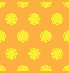Sun seamless pattern vector