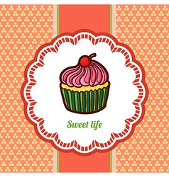 Tasty cake vector