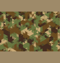 Triangles pattern in camouflage military army vector