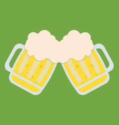 two beers toasting icon image vector image