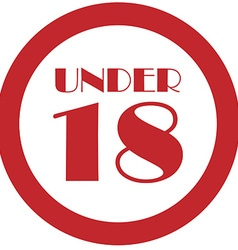 Under 18 vector image