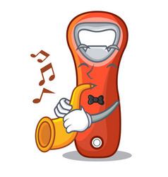 With trumpet plastic bottle opener isolated on vector