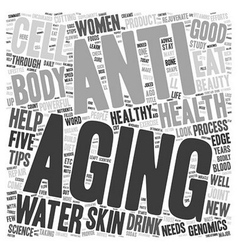 Womena s Health Advice Five Powerful Anti aging vector image